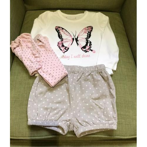 Mini Boden 18-24 Shorts Shirt Strumpfhose 86 92